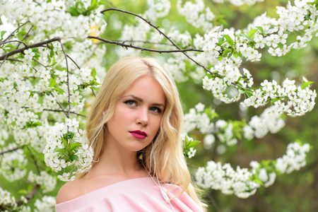 beautiful woman in spring or summer, nature and fashion, wedding