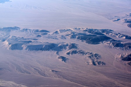 desert aerial view landscape with sand brown terrains dunes and barchans natural beautiful background