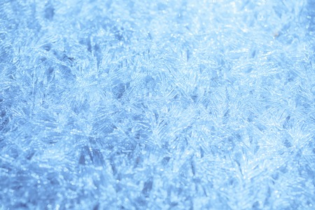 ice winter background, Frost crystal border on ice, Christmas, frozen window texture.