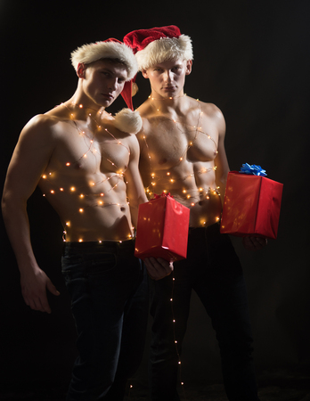 Hottest sexy men in santa naked red heads