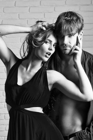 Sexy couple posing like high fashion models Stock Photo - 97664153