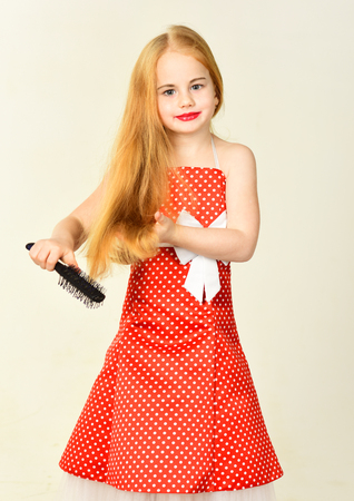 Fashion and beauty, pinup style, childhood. fashion and retro style
