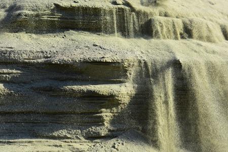 Mineraal zand, bouwmateriaal, bouw. Mineralen en mijnbouw.
