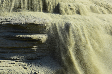 Natuur, natuurlijk zand, zandlandschap. Natuur, geologie, ecologie, ecosysteem, milieu. Stockfoto - 99429942