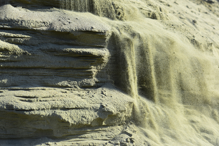 石砂土テクスチャの背景の層。