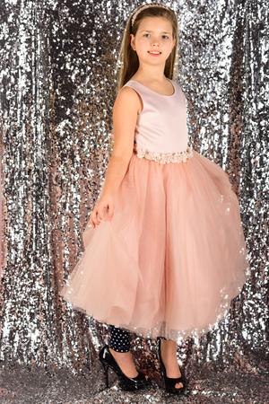 Beautiful little girl wearing fairy costume, fashion