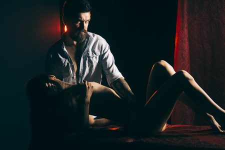 Man, woman with body, valentines day. man and woman have massage