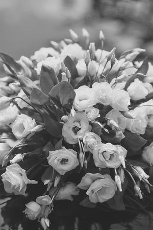Beautiful bouquet of eustoma