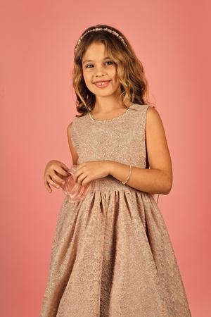 little princess in dress. little princess girl