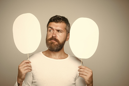 Man with long beard and mustache Stockfoto