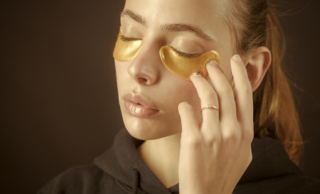 beauty and refresh, collagen mask Stock Photo