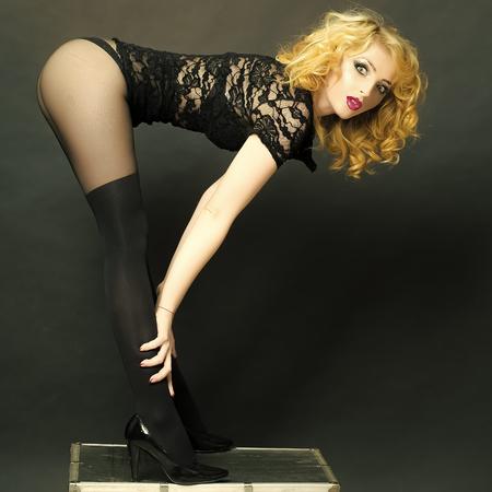 Sexy retro woman Stock Photo