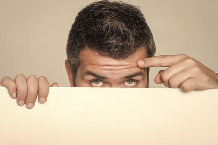 Guy on grey background. 版權商用圖片