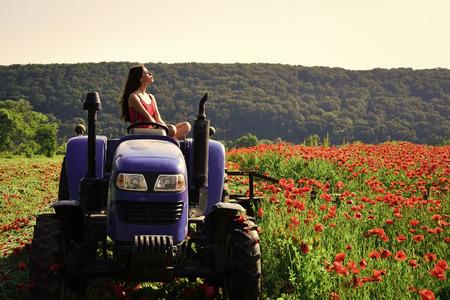 rich harvest, spring season, industrial transport.