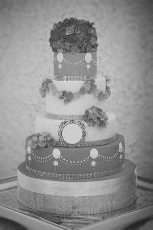 Large many-tier cake Stock Photo