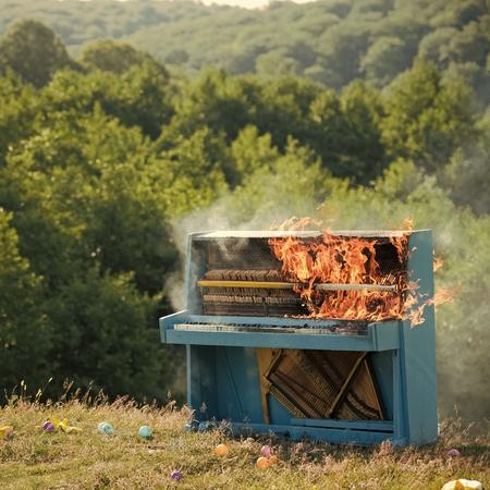 Rock concert, jazz, fireplace, destruction.