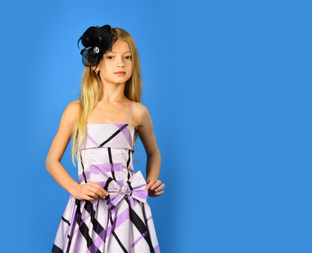 Fashion and beauty in pinup style, childhood. fashion and retro style, copy space