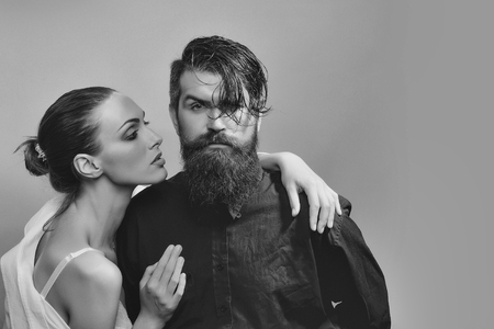 young stylish sexy couple in studio Stock Photo