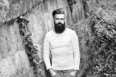 Stylish bearded man outdoor