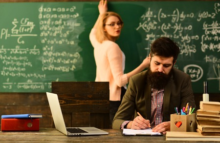 Academic success is much more about hard work than inborn talent, Tutor should believe that things can be changed through action, Tutor needs to be enthusiastic and needs to like his subject, Stock Photo