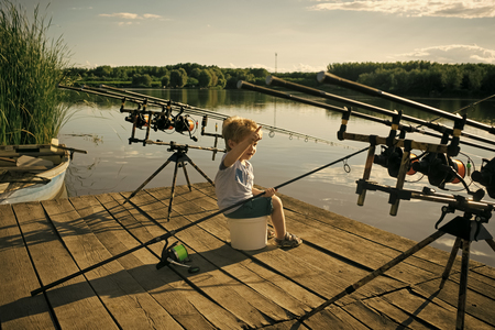 Happy kid having fun. Summer vacation, hobby, lifestyle