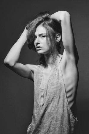 Sexy woman. pretty slim stylish sexy woman Archivio Fotografico