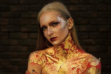 Fashion woman model posing. Skin care, skincare, healthcare.