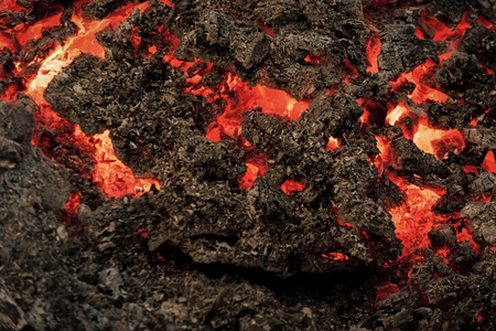 Magma textured molten rock surface. Formation geology nature environment Volcano, fire, crust