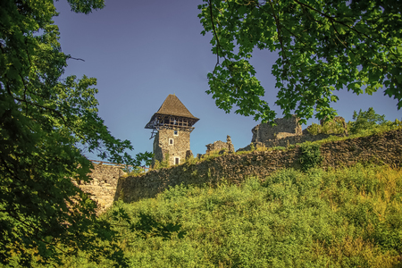 Castle tower and wall