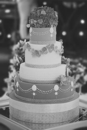 Big many-tier cake