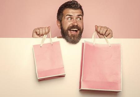 Mens heals care. Holiday celebration and black friday shopping. Фото со стока
