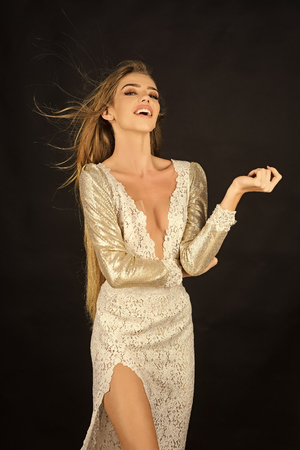 Sensual woman body. Woman in stylish dress, glamour, elegance. 스톡 콘텐츠