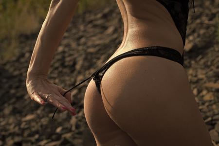 Femme sensuelle. Femmes en culotte
