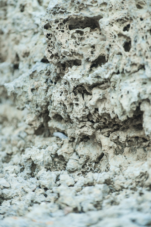 Stone texture on abstract background. White solid layer. Geology and mineral. Nature and ecology.