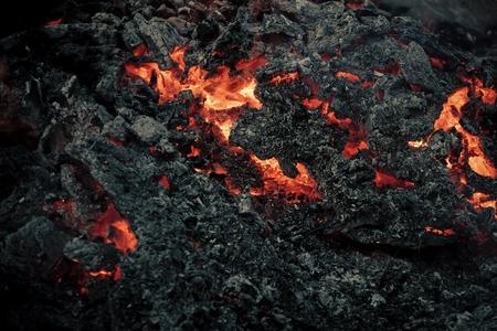 Volcano, fire, crust