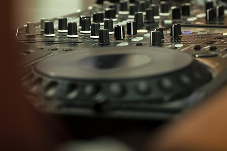 dj musical mixer professional . sMixer console Reklamní fotografie