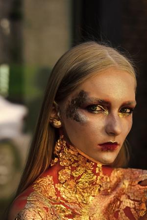 Halloween makeup, visage