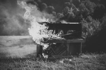 Flaming music, piano. Music. piano Flaming music, piano
