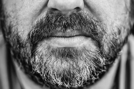 Beard and moustache Standard-Bild - 102583869