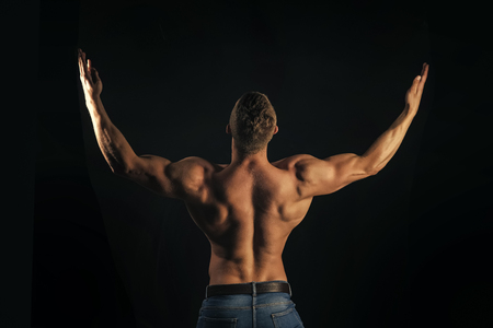 bodybuilding. Symmetry, muscularity concept
