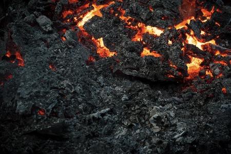 Magma textured molten rock surface