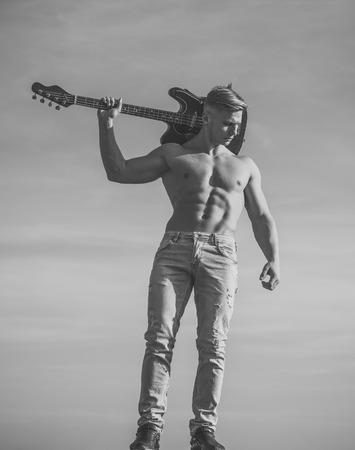 erotic gay. Music, performance, entertainment Stock Photo