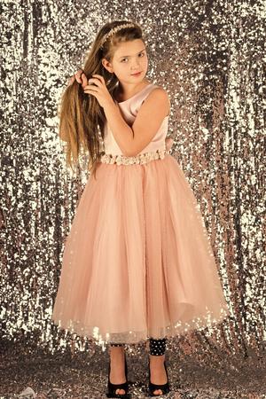 Fashion and beauty, little princess. fashion and beauty.