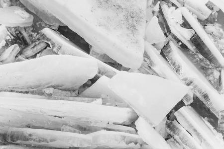 thick broken ice. Natural ice or frozen water Standard-Bild - 103327616