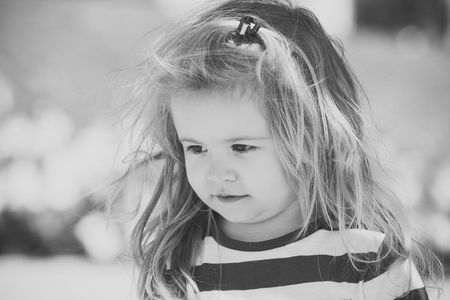 Pondered child. Toddler and baby care.