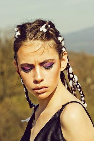 Beauty and fashion. Stock Photo
