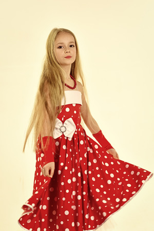 children model. portrait of pretty small girl child with long hair. potrait of little girl child