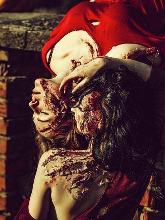 Halloween zombie women Imagens