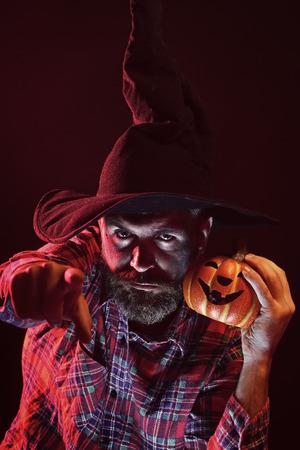 Halloween magic illumination and jack o lantern