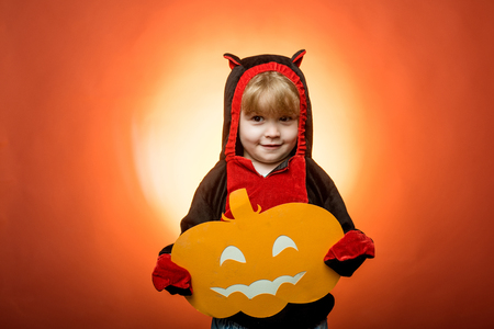 Trick or treat. Happy halloween with pumpkins on red background. Witch hat. Halloween party. Happy Halloween Stickers.